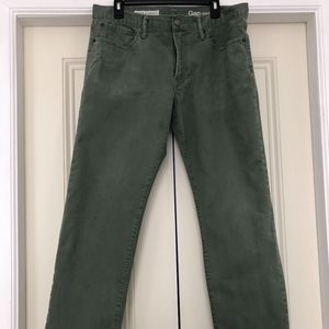 NEW Men's GAP 1969 Straight-Leg Jeans OLIVE Sz 34